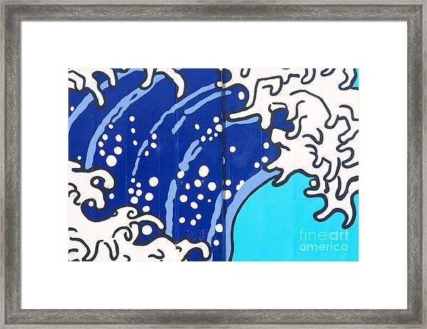 Beach House - Big Wave I Framed Print by Hideaki Sakurai