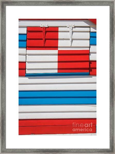 Beach House - Tricolore I Framed Print by Hideaki Sakurai