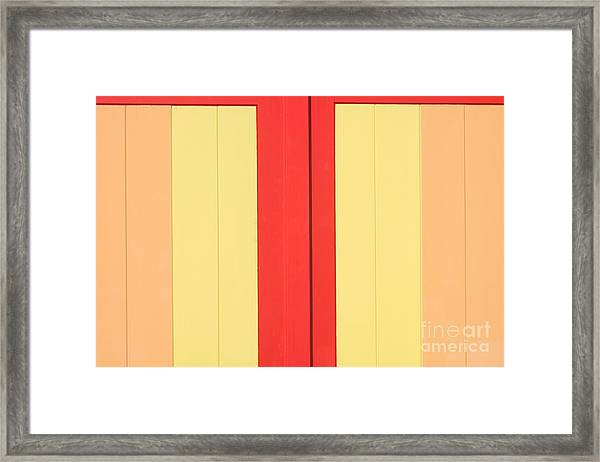 Beach House - Warm Colours I Framed Print by Hideaki Sakurai