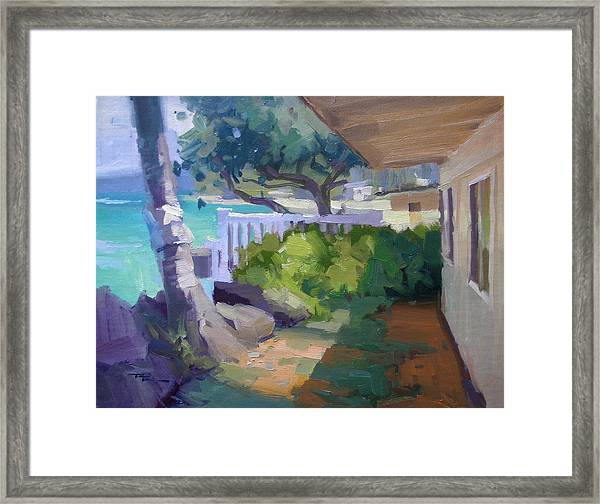 Beach House Framed Print by Richard Robinson