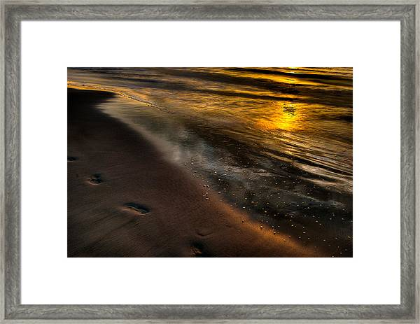 Beach Walk - Part 1 Framed Print
