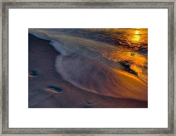 Beach Walk - Part 3 Framed Print