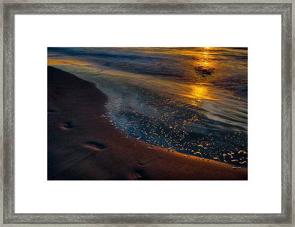 Beach Walk - Part 4 Framed Print