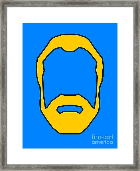 Beard Graphic  Framed Print