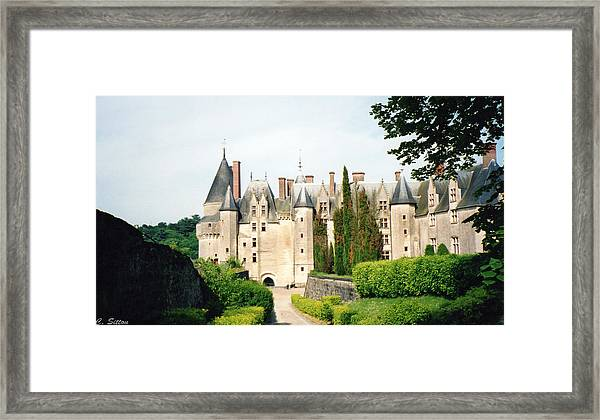 Beautiful Chambord Castle Framed Print