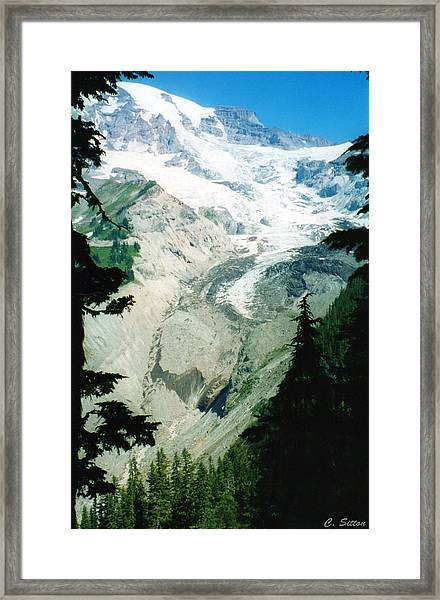 Beautiful Glacier Framed Print