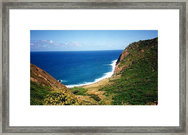 Beautiful Na Pali Framed Print