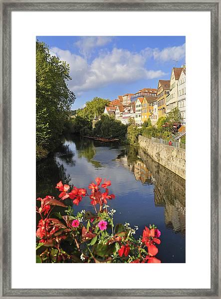 Beautiful Tuebingen In Germany Framed Print