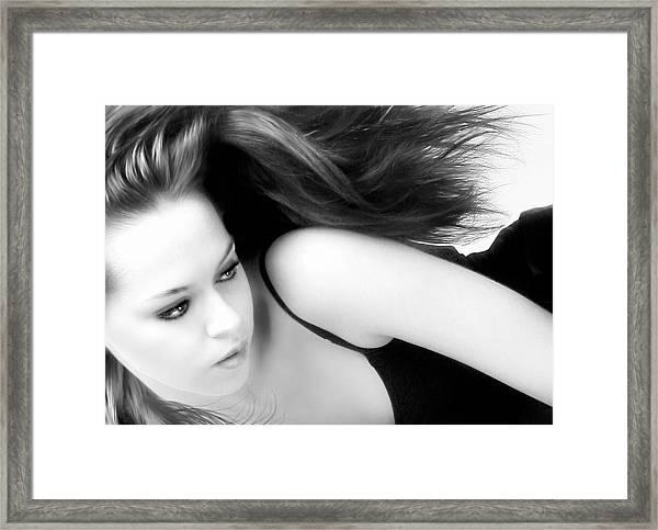 Beauty In Portrait Framed Print