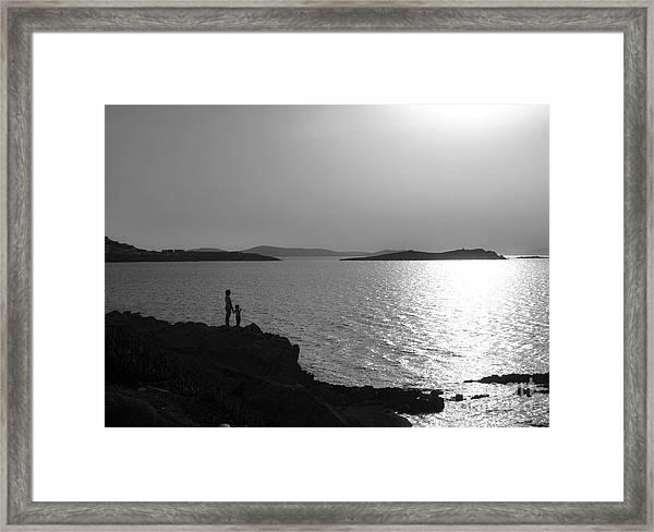Beauty Of Mykonos Framed Print