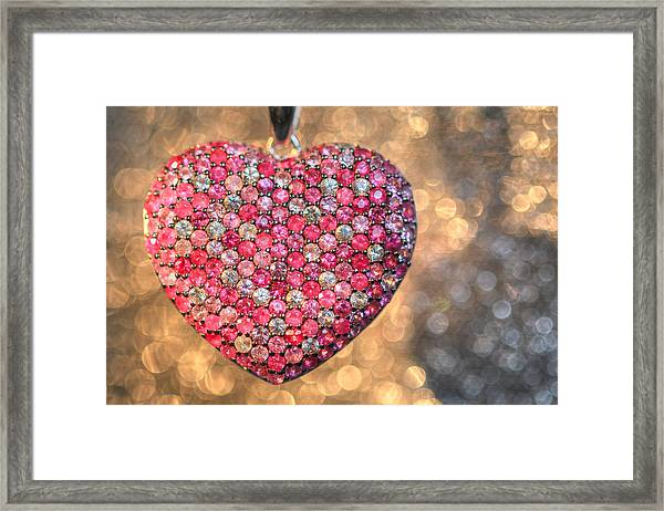 Bedazzle My Heart Framed Print