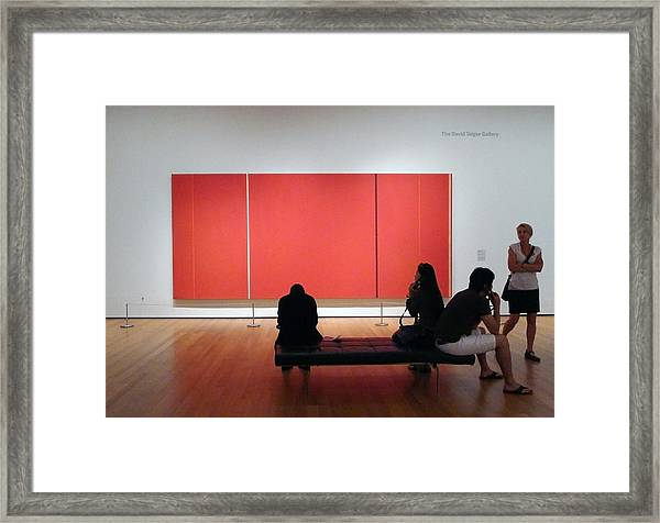 Before Cadmium Red Framed Print