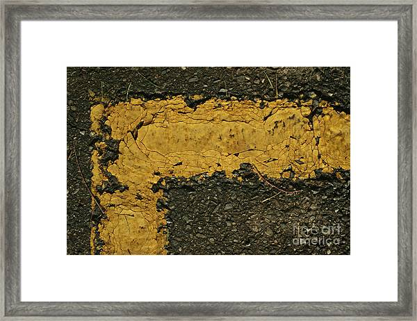 Behind The Yellow Line Framed Print