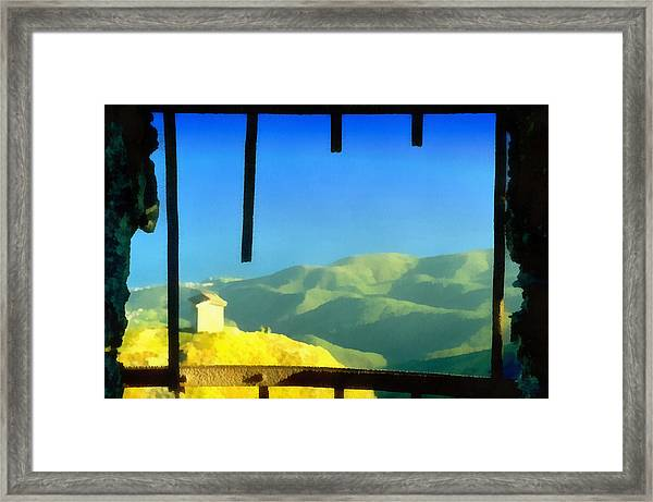 Beigua Landscape From Miniera House Framed Print