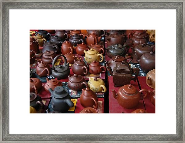 Beijing Teapots Framed Print