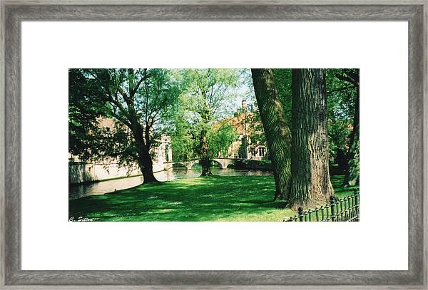 Belgian Park Framed Print
