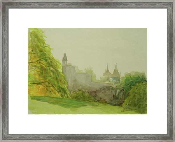 Belveder Castle Central Park Ny Framed Print