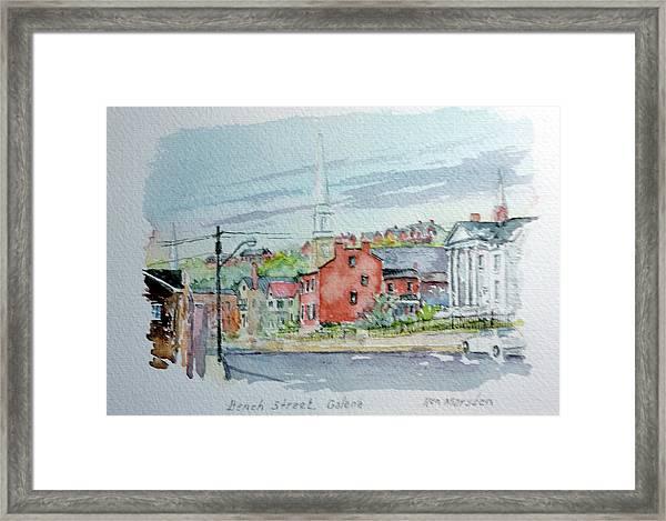 Bench Street Galena Illinois Framed Print