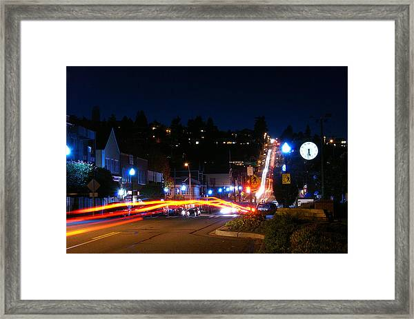 Bending Light Through Old Town Framed Print