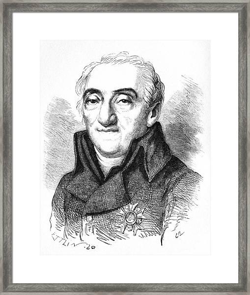 Bernard De Lacepede, French Naturalist Framed Print by