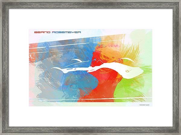 Bernd Rosemeyer Racing Framed Print