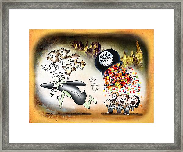 Bertie Bott's Beans Framed Print