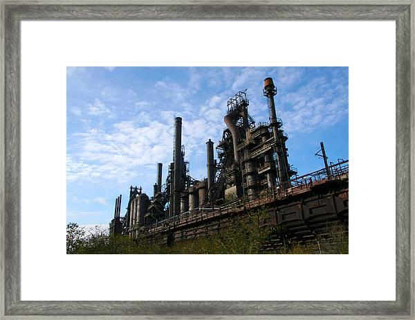 Bethlehem Steel Framed Print by Angela Angermaier