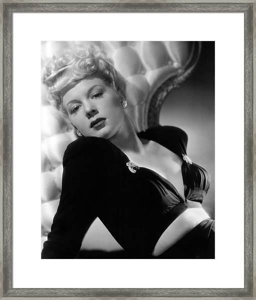 Betty Hutton, Paramount Pictures, 1943 Framed Print by Everett