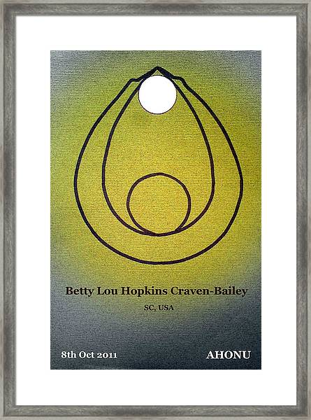 Betty Lou Framed Print