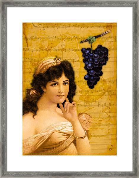 Beulah Peel Me A Grape Framed Print