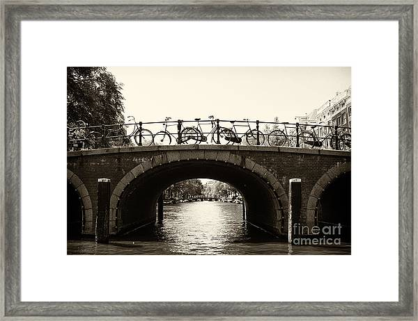 Bicycles Of Amsterdam Framed Print