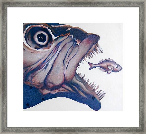 Big Fish Small Fry Framed Print by Joan Pollak