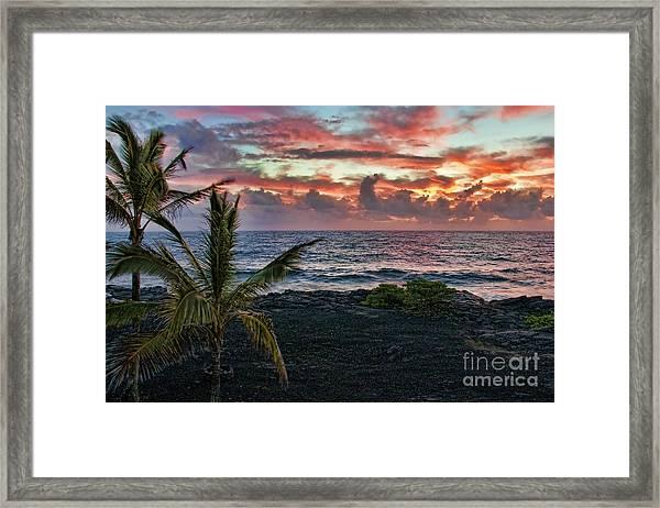 Big Island Sunrise Framed Print