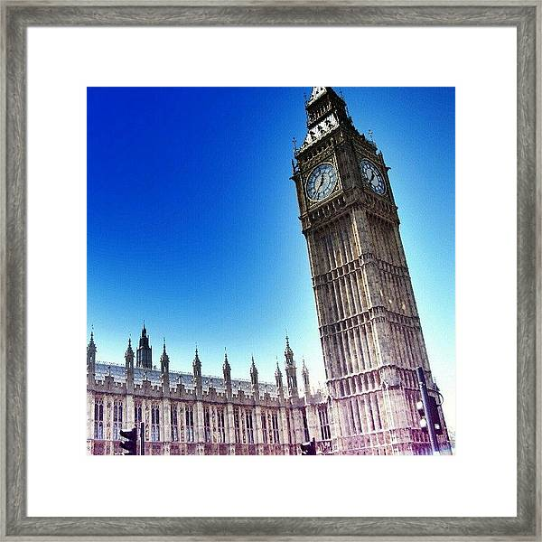 #bigben #uk #england #london2012 Framed Print