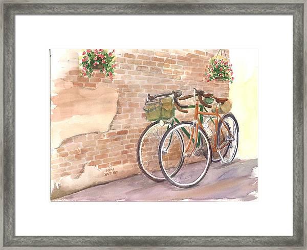 Bike Date Two Framed Print