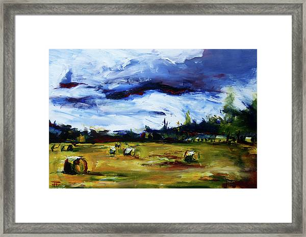 Bike Ride Hay Framed Print