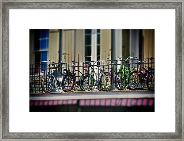 Bikes On Top Framed Print
