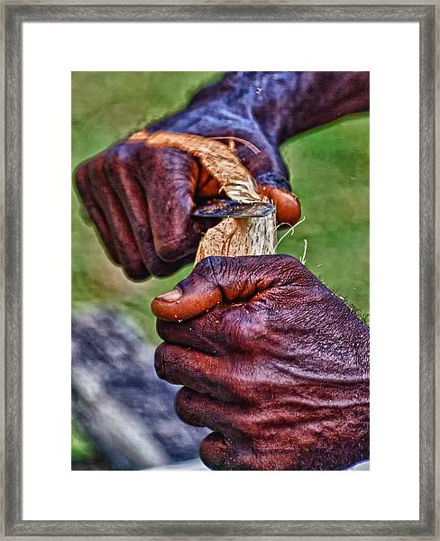 Bird Carver 2 Framed Print