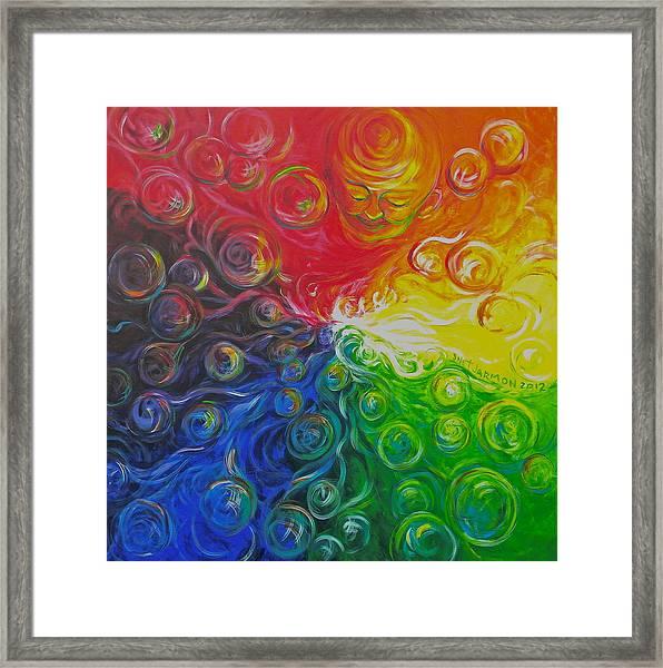 Birth Of Color Framed Print