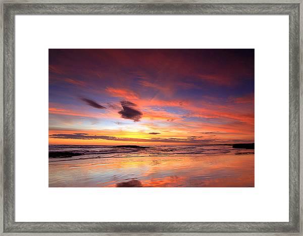 Birubi Sunset Framed Print