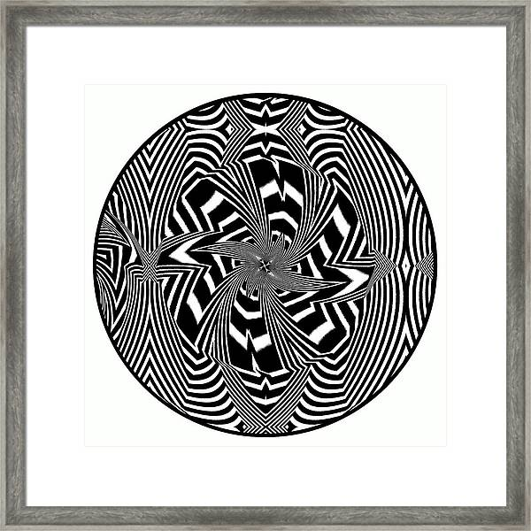 Framed Print featuring the digital art Black Flower by Visual Artist Frank Bonilla
