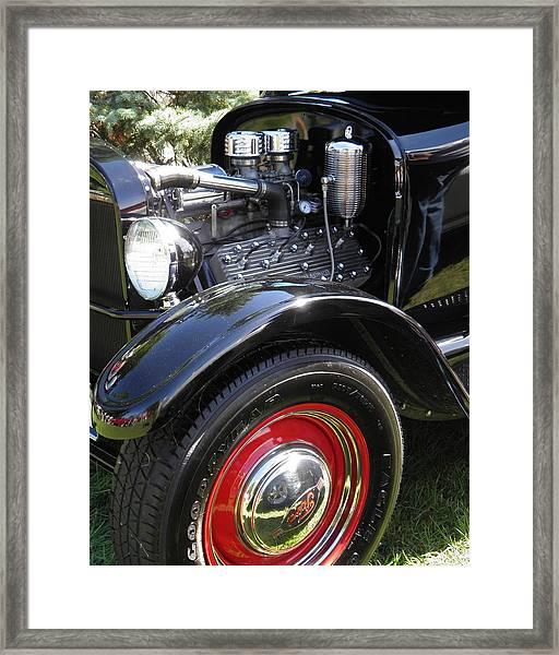Black Ford Roadster Hot Rod Fine Art Photograph Framed Print
