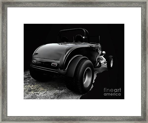 Black Jalopy Framed Print