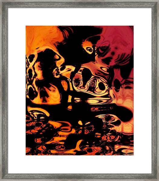 Blasphemy Swirls Framed Print