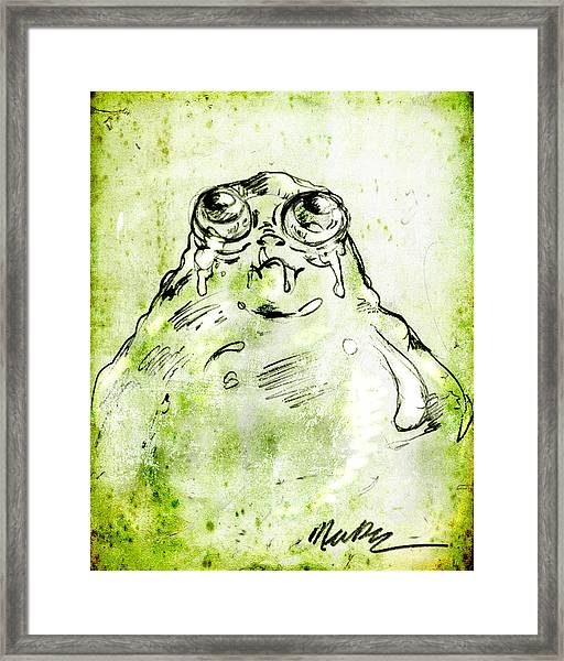 Blob Monster Framed Print
