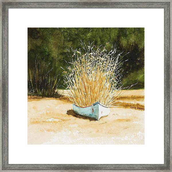 Blue Canoe Framed Print by Carla Dabney