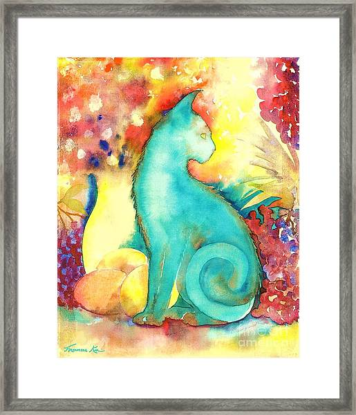 Blue Damsel Framed Print