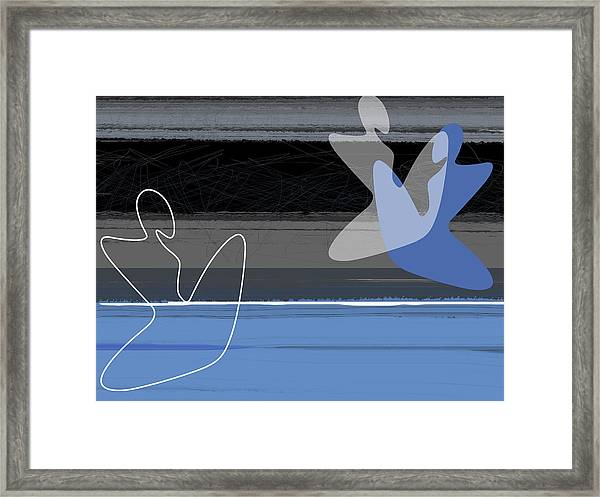 Blue Girls Framed Print