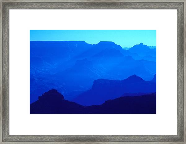 Blue Grand Canyon Framed Print