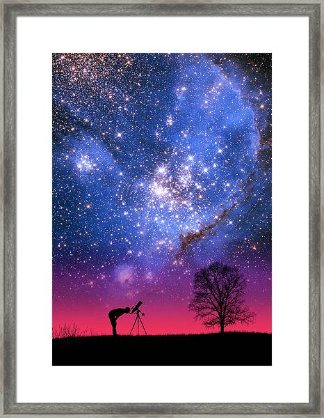 Blue Magellanic Cloud Framed Print